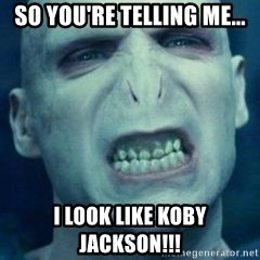Angry Voldemort - SO YOU'RE TELLING ME... I LOOK LIKE KOBY JACKSON!!!