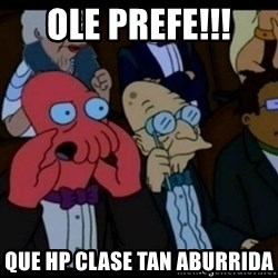 You should Feel Bad - ole prefe!!! que hp clase tan aburrida