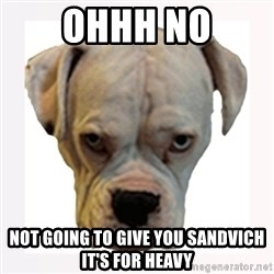 stahp guise - OHHH NO NOT GOING TO GIVE YOU SANDVICH IT'S FOR HEAVY