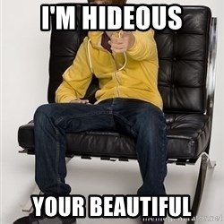 Justin Bieber Pointing - I'M HIDEOUS YOUR BEAUTIFUL