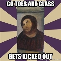 Retouched Ecce Homo - GO TOES ART CLASS GETS KICKED OUT