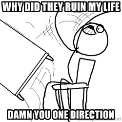 Desk Flip Rage Guy - WHY DID THEY RUIN MY LIFE DAMN YOU ONE DIRECTION