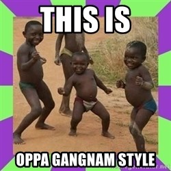 african kids dancing - this is oppa gangnam style