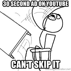 Desk Flip Rage Guy - 30 SECOND AD ON YOUTUBE CAN'T SKIP IT