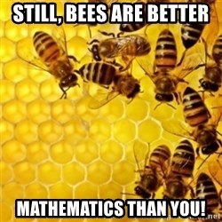 Honeybees - STILL, BEES ARE BETTER MATHEMATICS THAN YOU!
