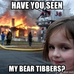 Disaster Girl - Have you seen My bear tibbers?