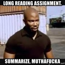 James Doakes surprise - long reading assignment. summarize, muthafucka
