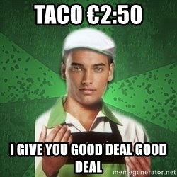 Caixas SS3 - TACO €2:50 I GIVE YOU GOOD DEAL GOOD DEAL