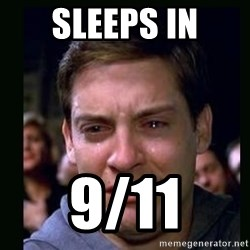 crying peter parker - sleeps in 9/11