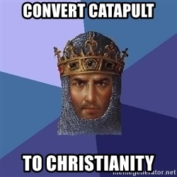 Age Of Empires - Convert catapult to christianity