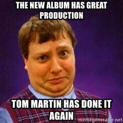Bad Luck Brian Westbrook - the new album has great production tom martin has done it again