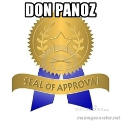 official seal of approval - Don Panoz