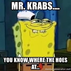 Spongebob Thread - MR. KRABS.... YOU KNOW WHERE THE HOES AT...