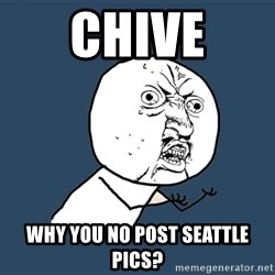 Y U No - CHIVE WHY YOU NO POST SEATTLE PICS?
