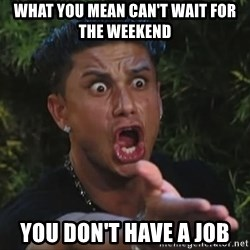 Pauly D - WHAT YOU MEAN CAN'T WAIT FOR THE WEEKEND YOU DON'T HAVE A JOB