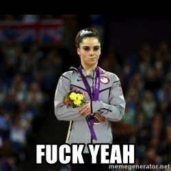 Unimpressed McKayla Maroney - fuck yeah