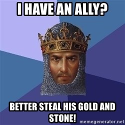 Age Of Empires - I have an ally? Better steal his gold and stone!