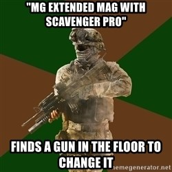 "Call Of Duty Addict - ""mg extended mag with scavenger pro"" finds a gun in the floor to change it"