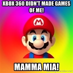 Mario Says - xbox 360 didn't made games of me! mamma mia!