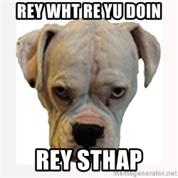 stahp guise - Rey wht re yu doin  rey sthap