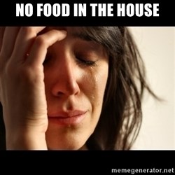 crying girl sad - No food in the house