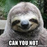 Sexual Sloth - Can you not