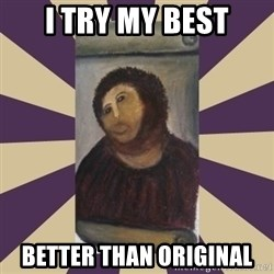Retouched Ecce Homo - I try my best Better than ORIGINAL