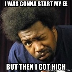AfroMan - i was gonna start my EE but then i got high
