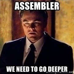 inception - assembler we need to go deeper