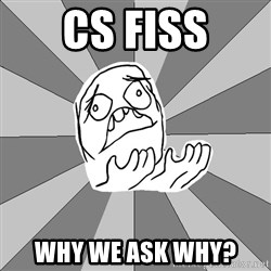 Whyyy??? - CS FISS WHY WE ASK WHY?
