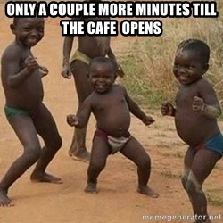 Dancing African Kid - Only a couple more minutes till the cafe  opens