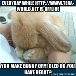 Bunny cry - everyday while http://www.tera-world.net is offline you make bunny cry! Cleo do you have heart?
