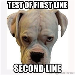 stahp guise - test of first line second line