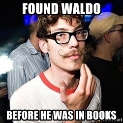 Super Smart Hipster - found waldo before he was in books