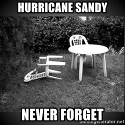 Chair Blown Over - hurricane sandy never forget