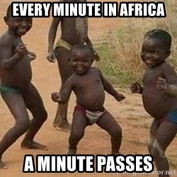 african children dancing - EVERY MINUTE IN AFRICA A MINUTE PASSES