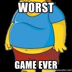 comic book guy - Worst Game ever