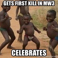 african children dancing - gets first kill in mw3 celebrates