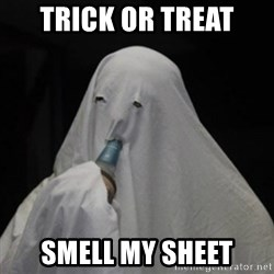 Poverty Ghost - trick or treat smell my sheet