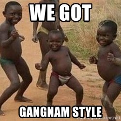 african children dancing - WE GOT GANGNAM STYLE