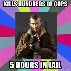 Niko Bellic - KILLS HUNDREDS OF COPS 5 HOURS IN JAIL