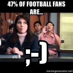 Senor Chang - 47% of Football Fans Are... ;-)