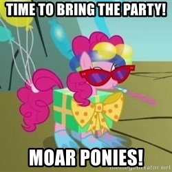 pinkie pie dragonshy - time to bring the party! MOAR ponies!