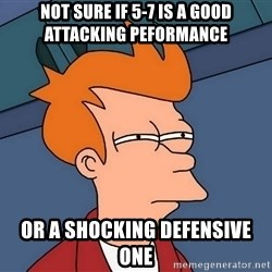 Futurama Fry - Not sure if 5-7 is a good attacking peformance Or a shocking defensive one