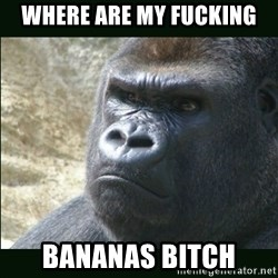 Rustled Jimmies - WHERE ARE MY FUCKING BANANAS BITCH