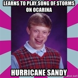 brian bad news - Learns to Play Song Of Storms on ocarina Hurricane sandy