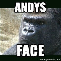 Rustled Jimmies - ANDYS  FACE
