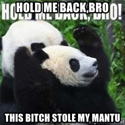 Hold me back panda - Hold me back,bro this bitch stole my mantu