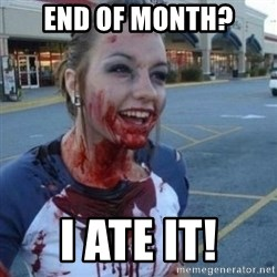 Scary Nympho - end of month? i ate it!