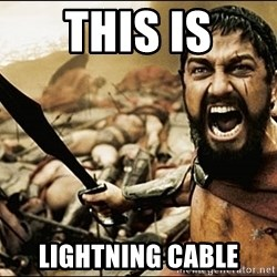 This Is Sparta Meme - THIS IS LIGHTNING CABLE